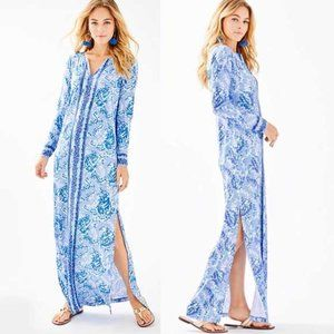 Lilly Pulitzer Faye Printed Maxi Dress in Blue XS